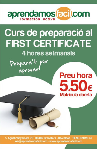 GRANOLLERS: FIRST CERTIFICATE 5.50 EUROS HORAS