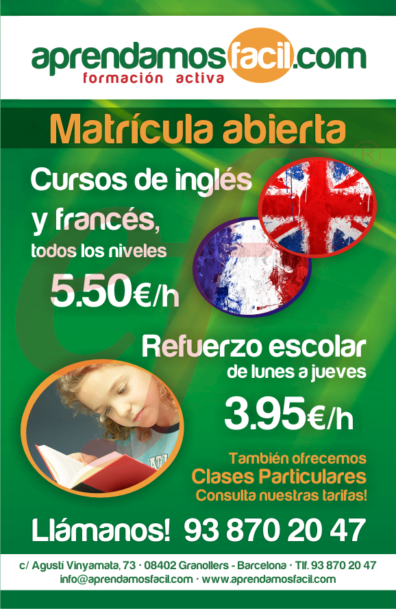 CLASES DE INGLÉS GRANOLLERS