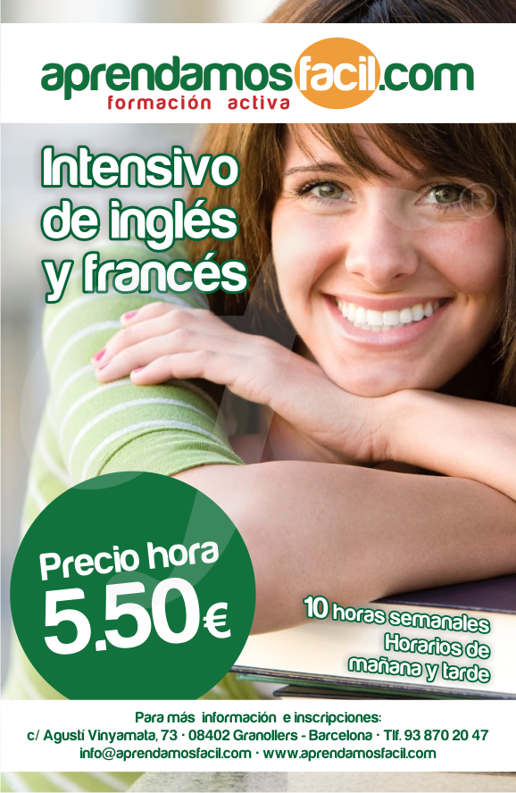 INTENSIVOS DE INGLÉS Y FRANCÉS JULIO AGOSTO, SEPTIEMBRE